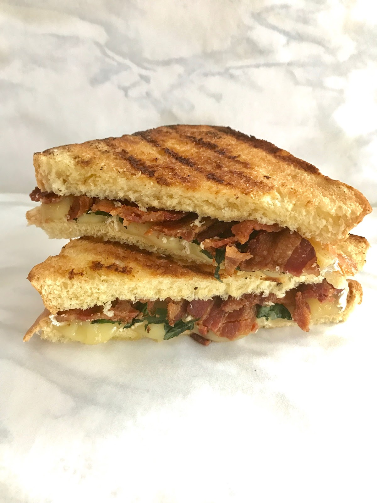 Our Good Life: Smoked Brie, Bacon and Basil Grilled Cheese ...