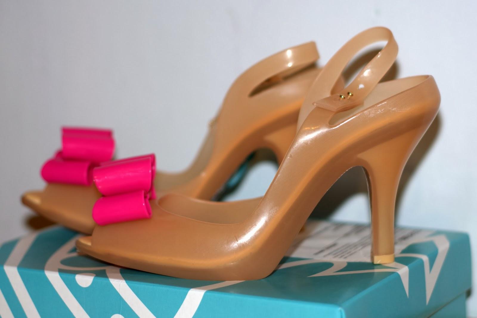 różowa kokarda buty Melissa Lady Dragon