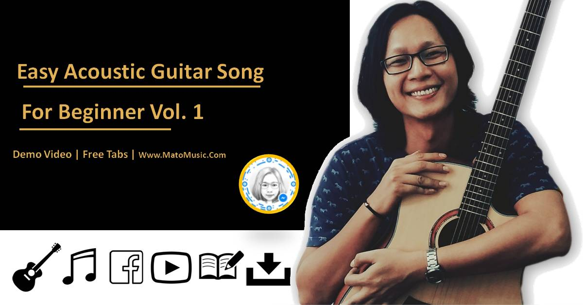 Easy Acoustic Guitar Song For Beginner Vol 1 by Mato Music