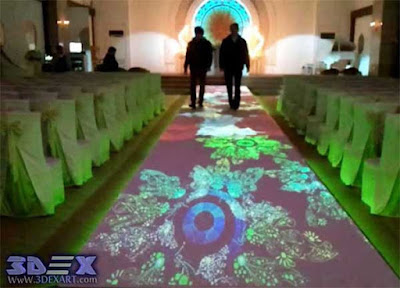 Interactive Floor Projection, interactive floor projector for weeding