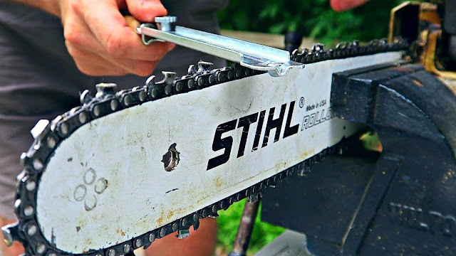how to care for a stihl chain
