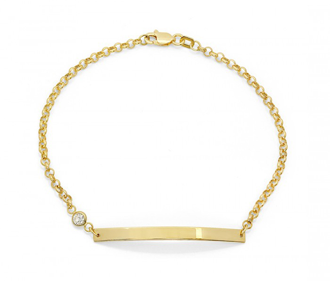 Valentine's Day Gift Ideas: Gold ID Bracelet