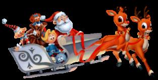 Papai Noel com trenó