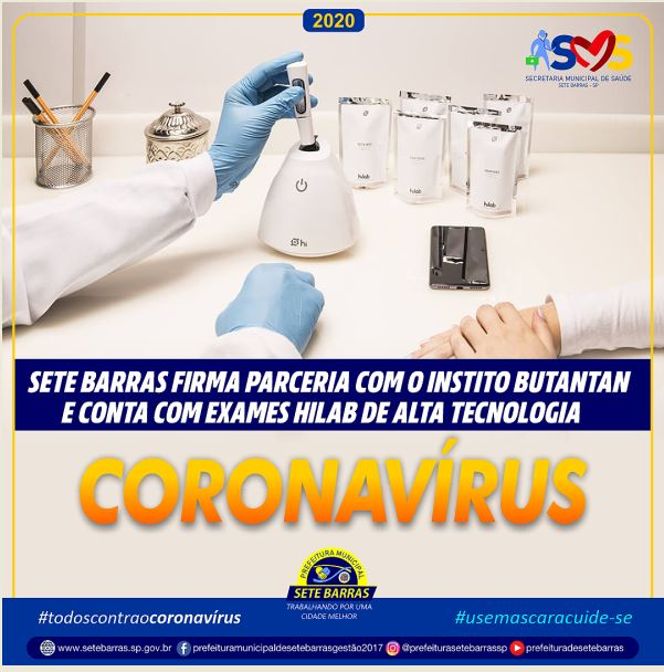 Prefeitura de Sete Barras adquire novos testes de alta tecnologia para Covid-19