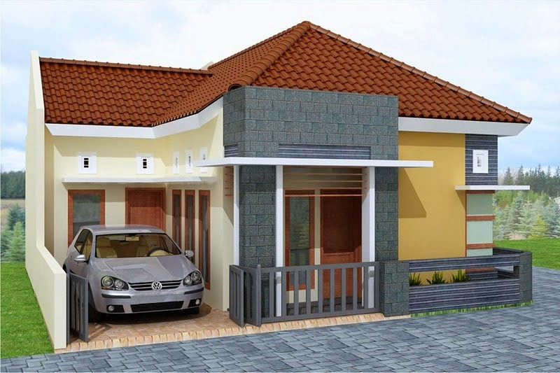 rumah minimalis 1 lantai sederhana 3