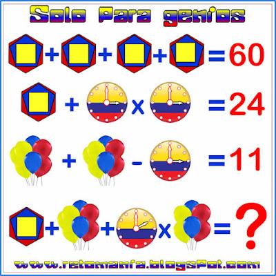 Descubre el resultado, ¿Cuál es el resultado?, Retos matemáticos, Desafíos matemáticos, Problemas matemáticos, Problemas de ingenio, Problemas de ingenio matemático, Solo para genios, Piensa rápido