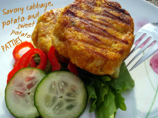 Savoy cabbage, potato and sweet potato patties by Laka kuharica: light and healthy vegetarian meal.