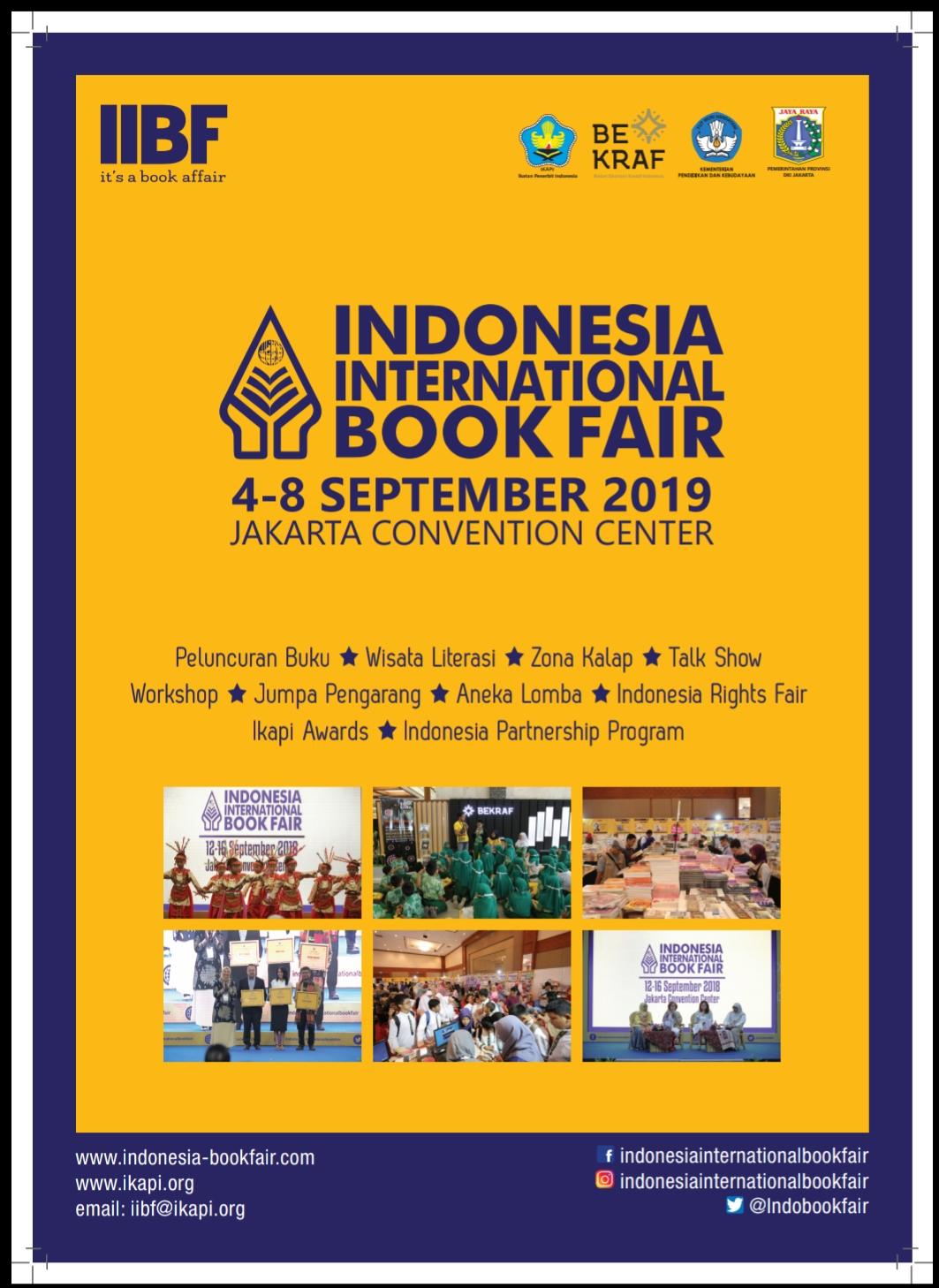 Melalui Indonesia International Book Fair 2019 Buka Jendela Dunia