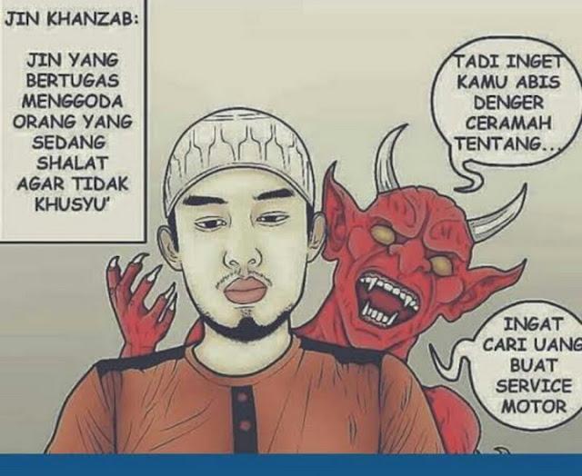 Setan Pengganggu ketika Sholat dan Setan Lain beserta Tugas-tugasnya Mengganggu Manusia