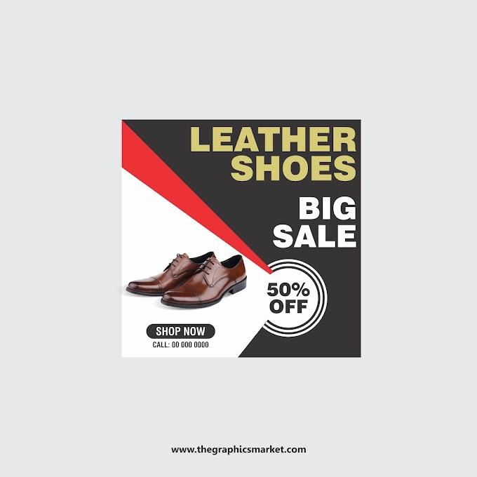 Shoes Sale Banner Design | Free Download