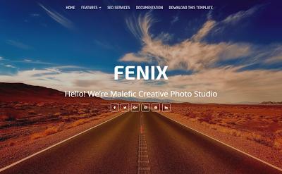 Fenix Portfolio Blogger Templates