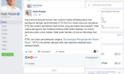 Najib Arah Selesai Masalah ETS