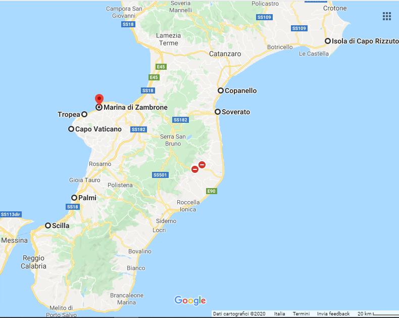 Calabria Costa Tirrenica Cartina.Vai Oltre Complessita Ecclesiastico Mappa Costa Ionica Calabrese Amazon Settimanaciclisticalombarda It