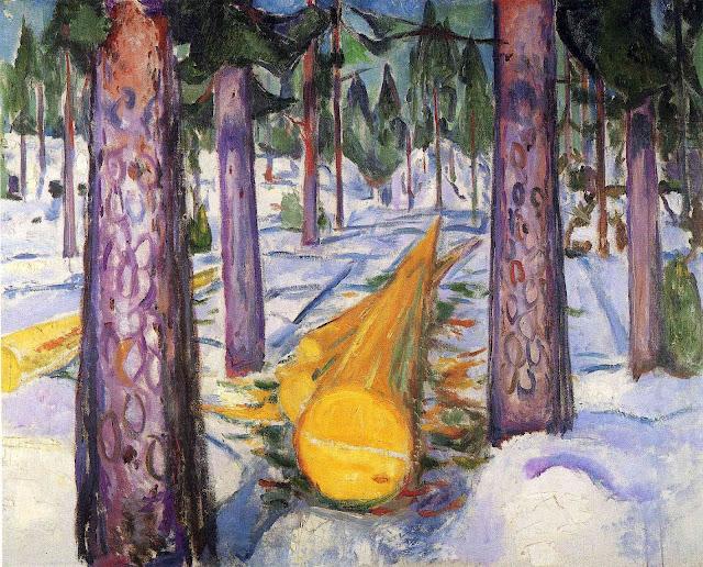 Эдвард Мунк - Желтое бревно. 1912