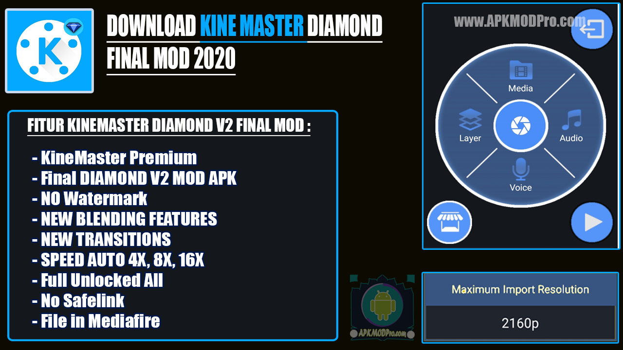 KineMaster Diamond v2 Final Mod Apk 2020