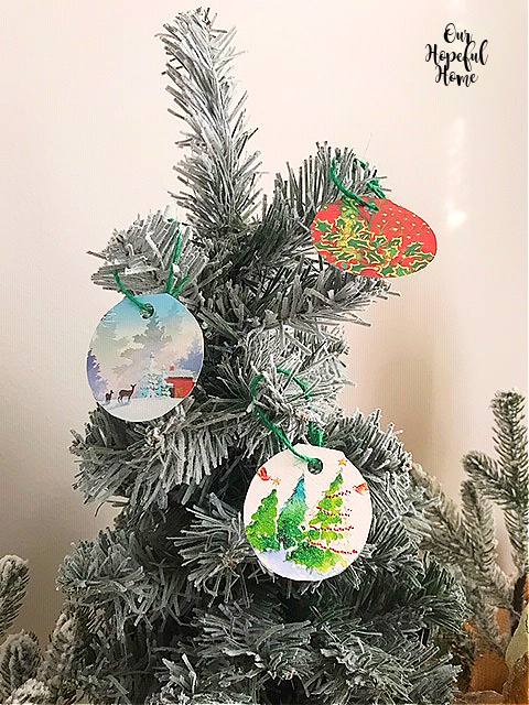 paper Christmas ornaments hanging tags