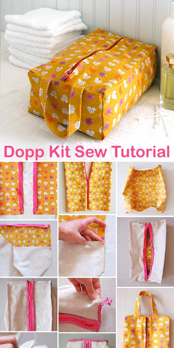 Zippered Dopp Kit Tutorial