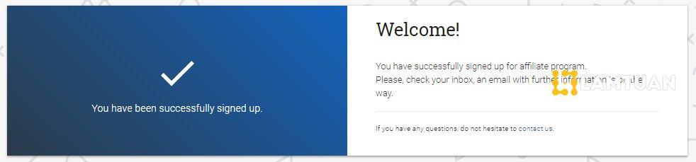 Vào email để kích hoạt tài khoản Tamodo