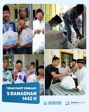 Penyaluran Sembako Ramadhan 1442H Tahap 1