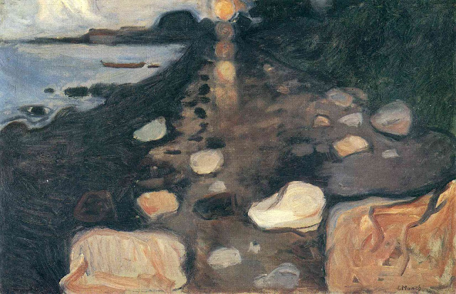 Эдвард Мунк - Лунный свет на берегу. 1892