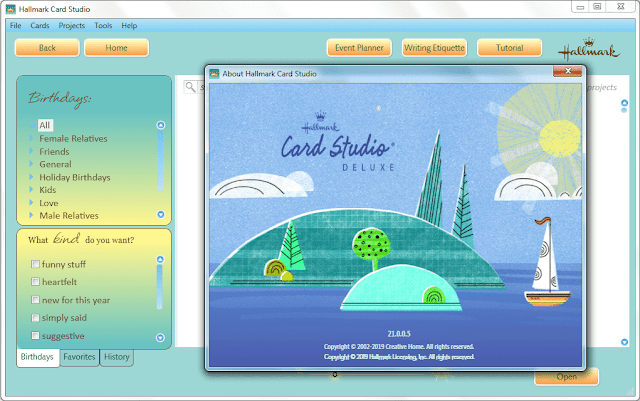 Screenshot Hallmark Card Studio Deluxe 2020 v21.0.0.5 Full Version