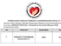 Pembantu Perawatan Kesihatan U11 [ Permohonan Terbuka ]