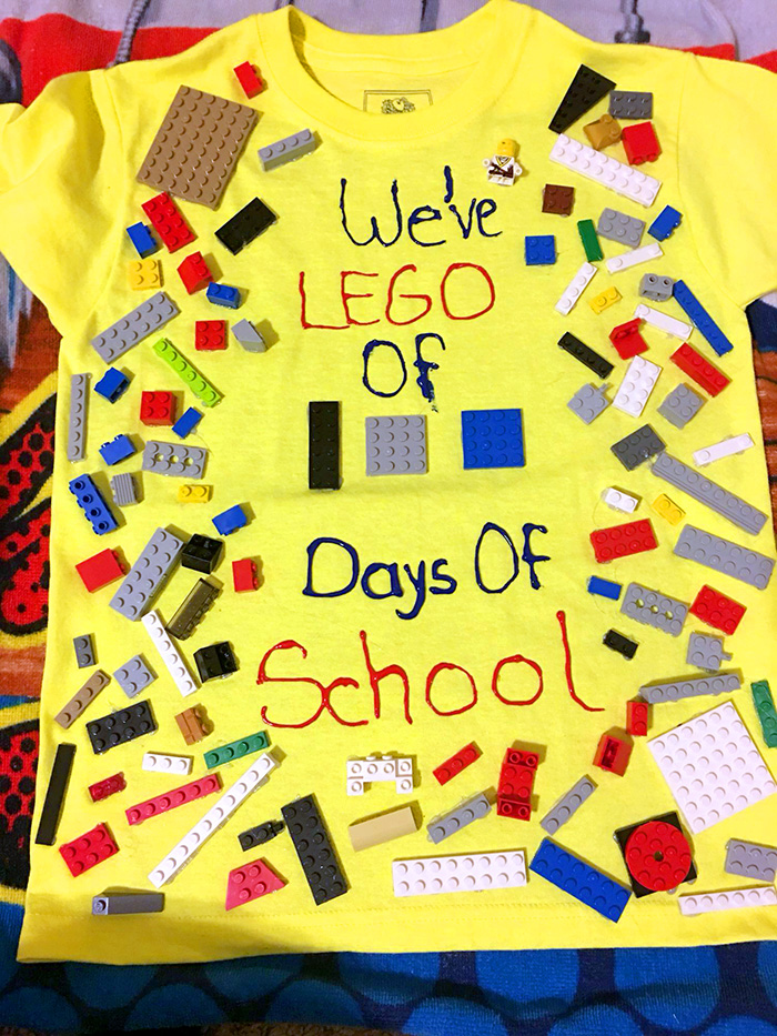 We've LEGO of 100 days of school - LEGO themed 100 days of school shirt