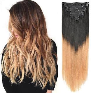 BHF 20'' HighLight (T1B/27#) 140g Clip In Hair Extensions 100% Human Hair