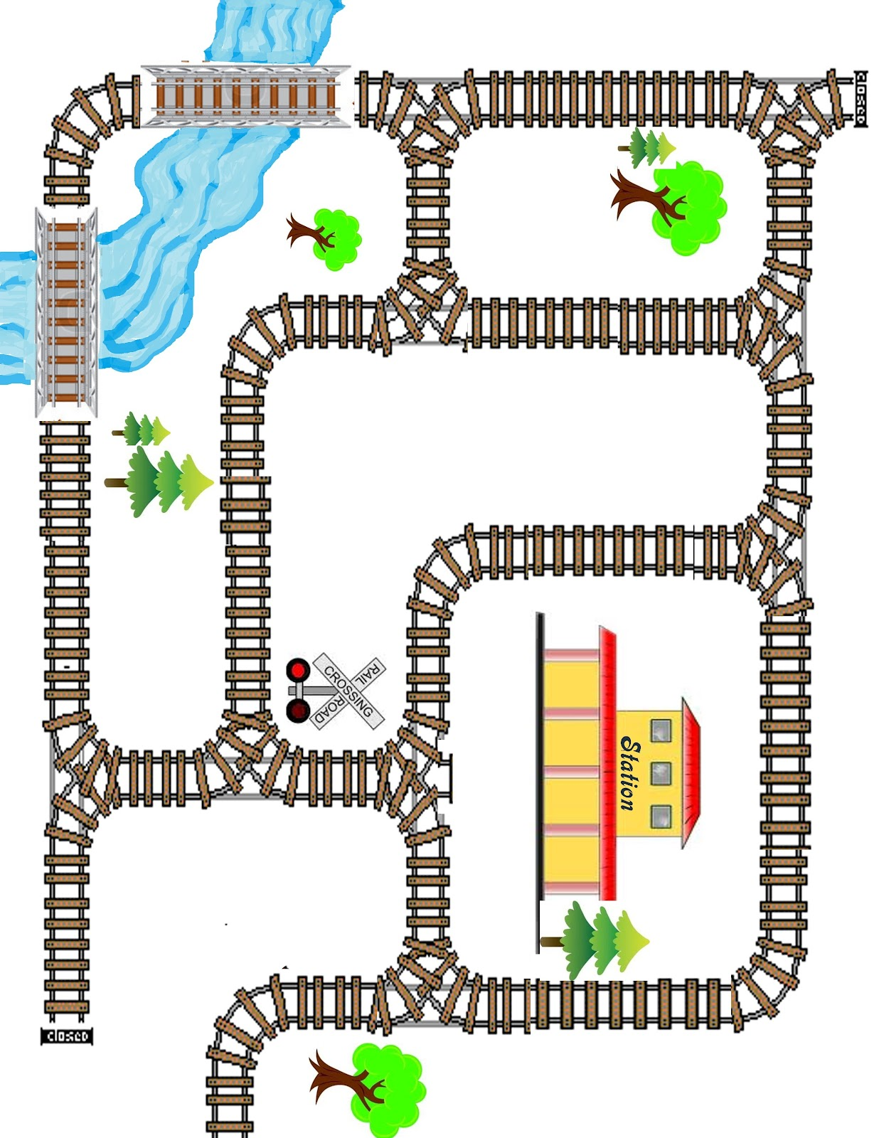 Train Track Paper Play Mat Diy Play Mat Make Your Own