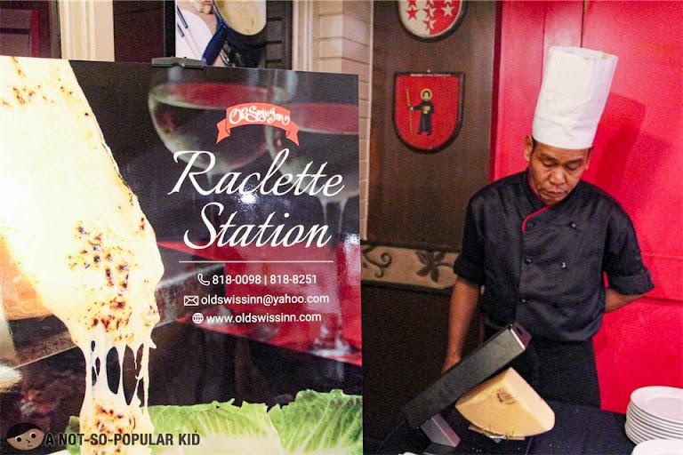 Raclette in Old Swiss Inn Restaurant, Makati