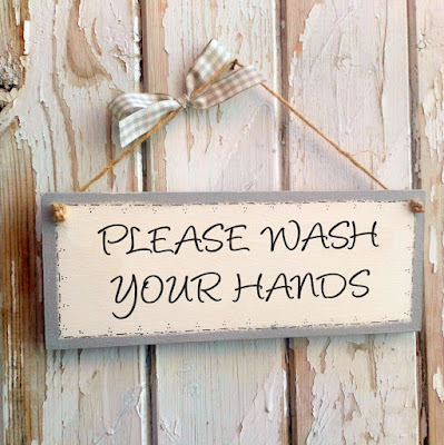Wash Your Hands Wooden Plaque Sign