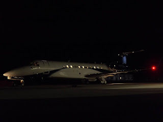 At Gloucestershire Airport. Date20 October 2016, 19:13 SourceN810TD Embraer Legacy 650 Delta Private Jets Inc AuthorJames from Cheltenham, Gloucestershire
