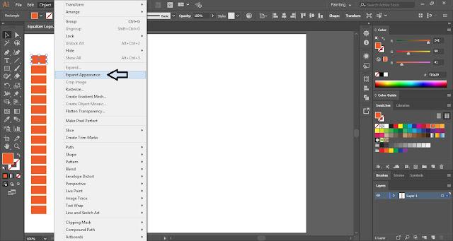 Equalizer Logo in Adobe Illustrator