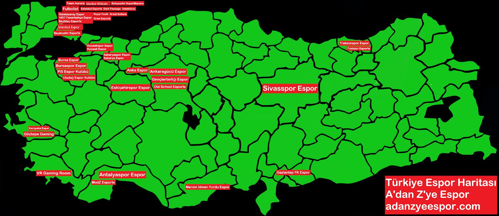 Türkiye Espor Haritası