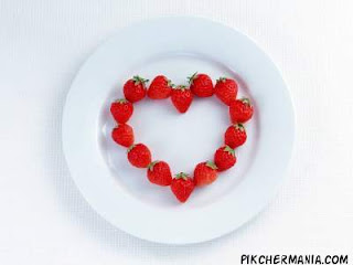 heart shaped strawberries