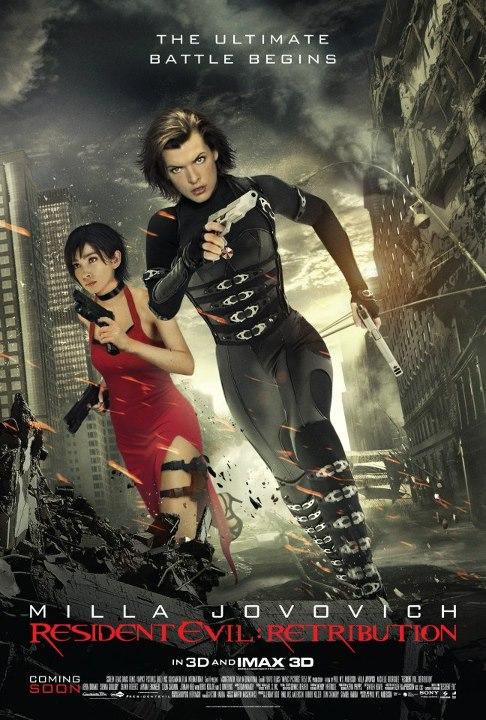 2 New Posters Of Resident Evil 5 Retribution Teaser Trailer