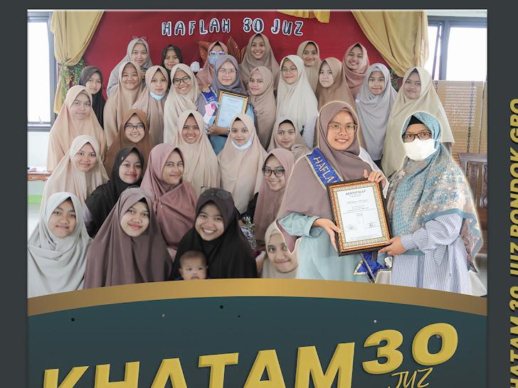 Hafizhah ke 68 Pondok Tahfizh GRQ - Widhiya Novita