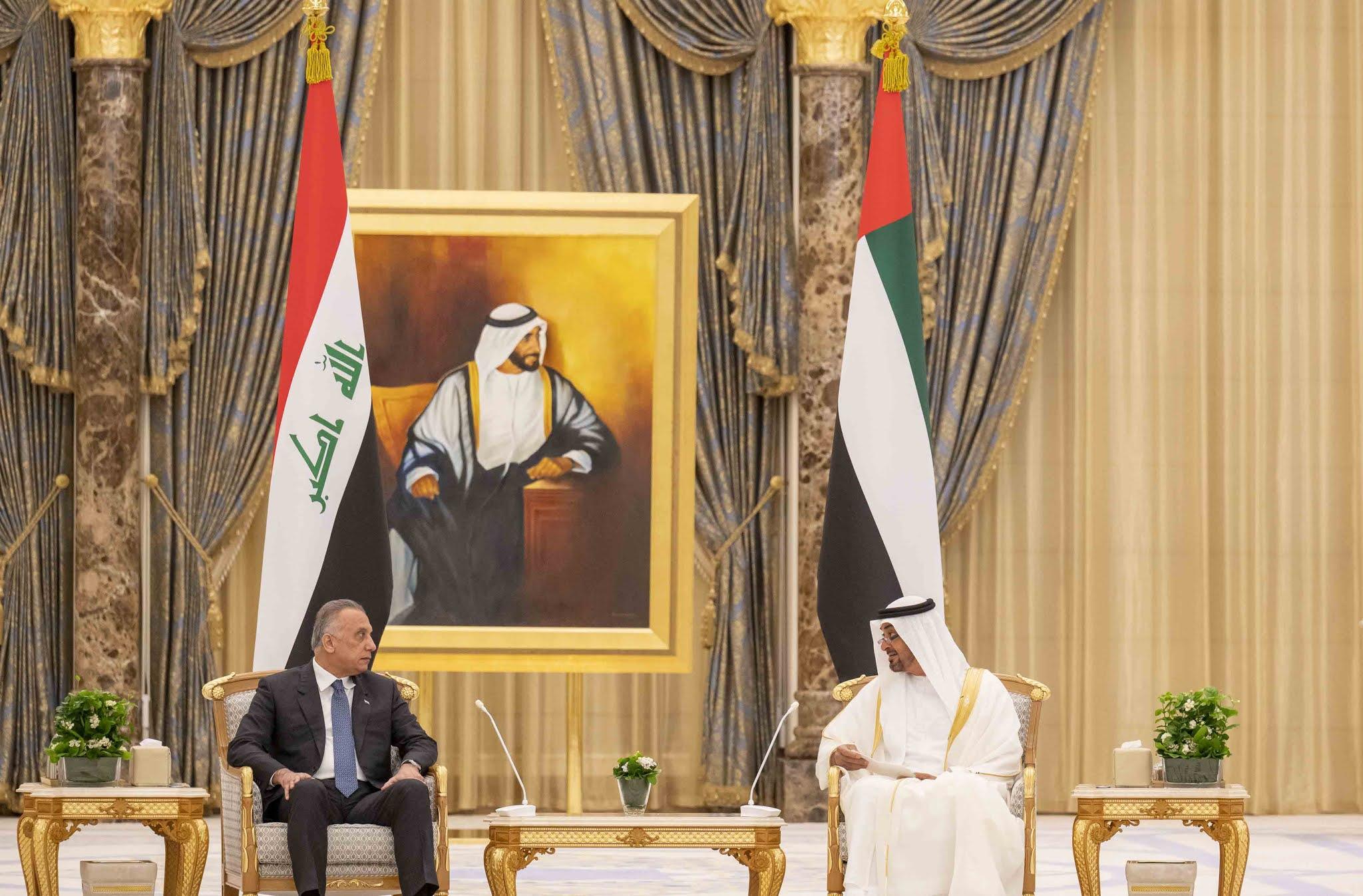 Iraq prime minister meets Sheikh Mohamed bin Zayed in Abu Dhabi