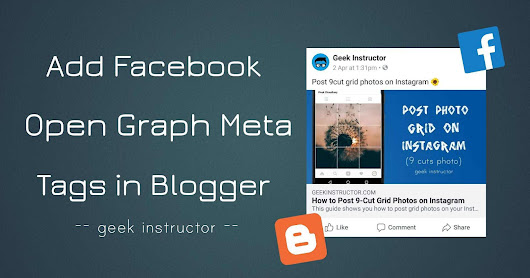 How to Add Facebook Open Graph Meta Tags in Blogger