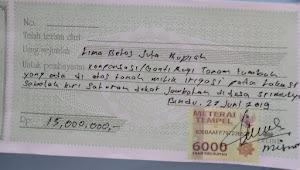 Warga pertanyakan dana konpensasi sebesar Rp15 juta, diduga digelapkan