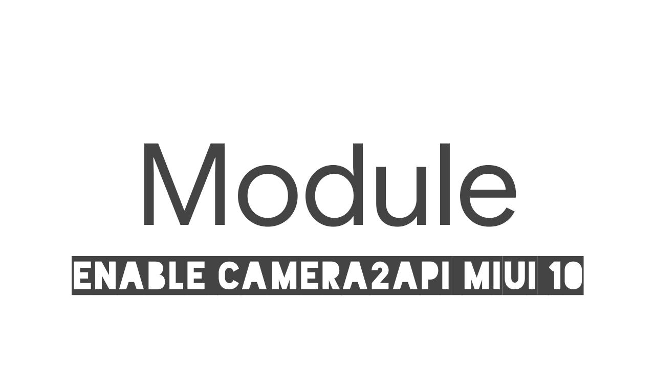 Module Camera2API Redmi 4X