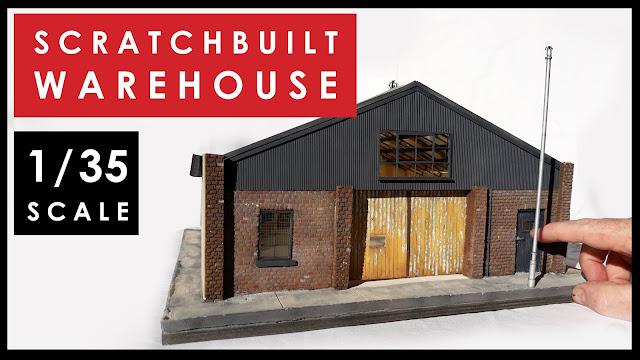 1/35 scale model warehouse building
