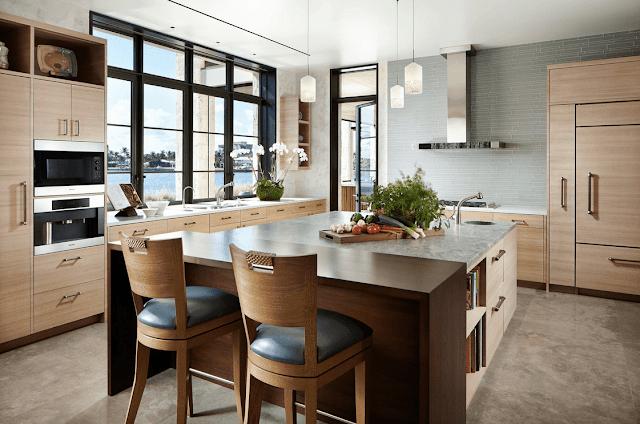 Inspirasi Ide Desain Dapur Minimalis Asia dengan warna soft tone