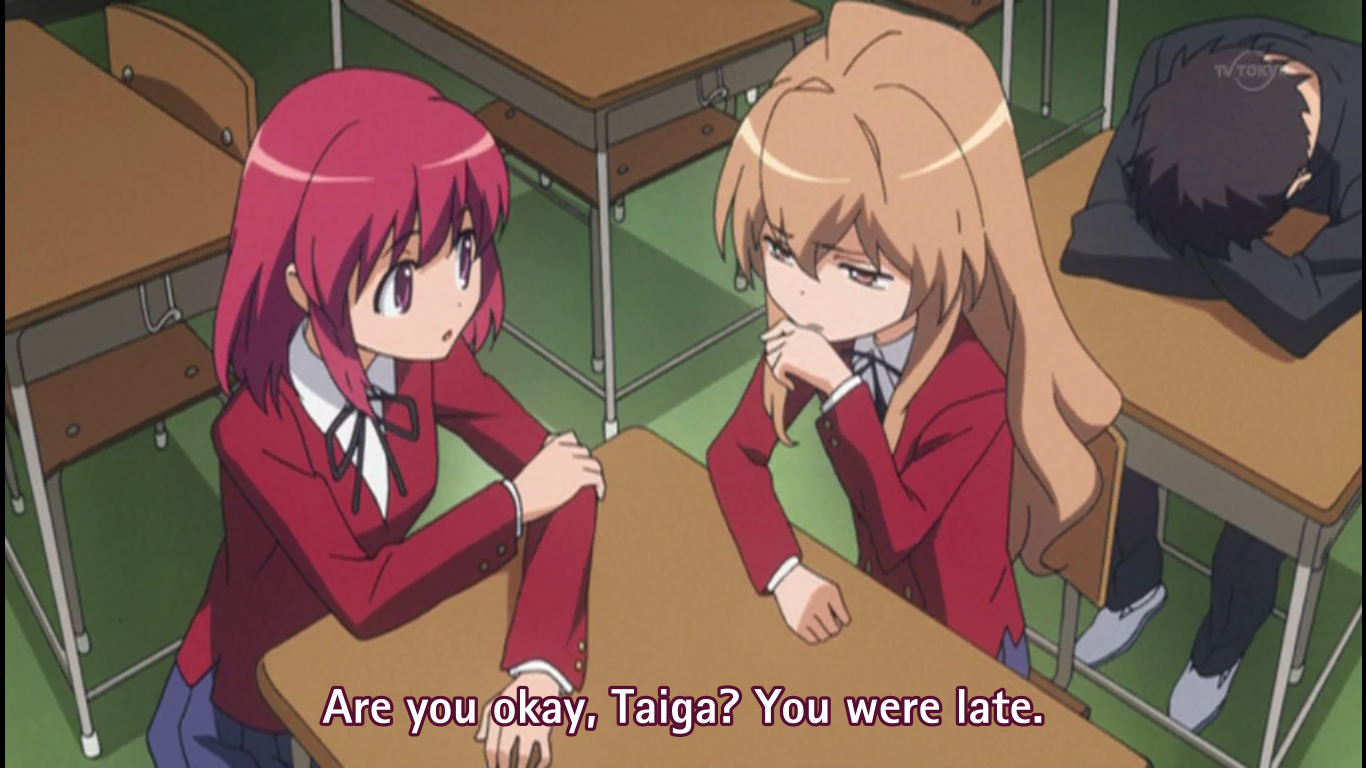 Studying Anime Japanese Toradora subs
