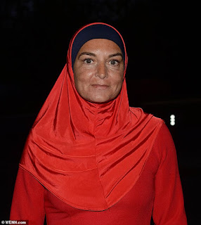 Sinead O'Connor donned traditional Islamic dress for her appearance on RTE's Show following her conversion to Islam