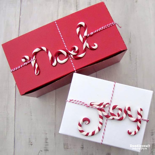 Candy Cane Striped Gift Tags