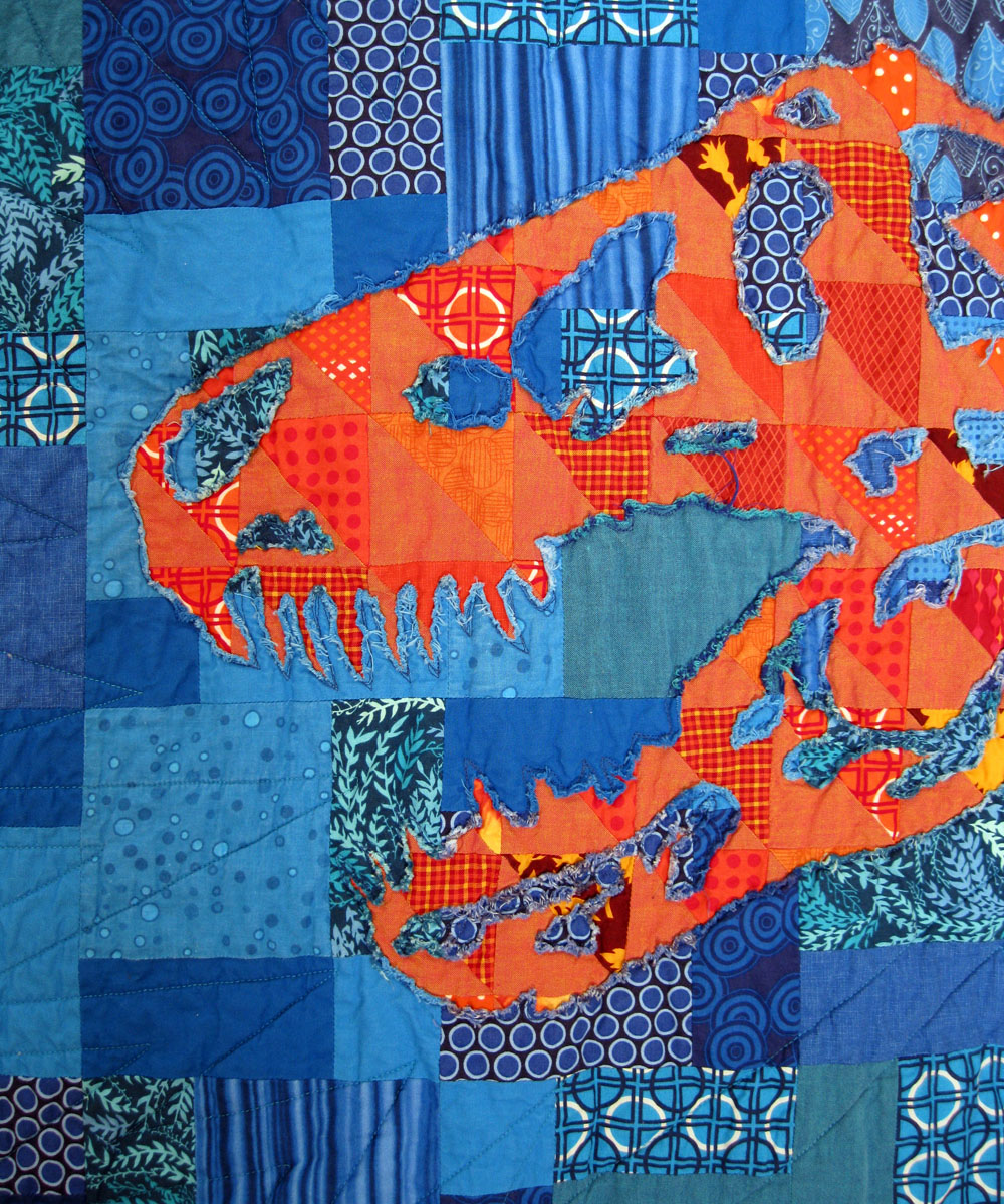 If A Had To Choose Favorite Among My Three Stencil Quilts It Would Be This One I Love Everything About Starting With Orange And Blue The Colors Of