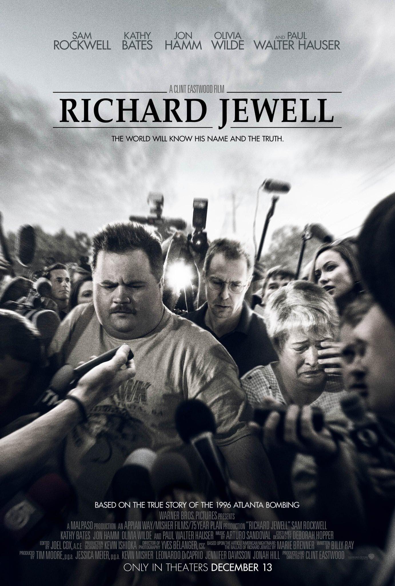 First poster for Clint Eastwood's Richard Jewell : 名匠クリント・イーストウッド監督が、アトランタ五輪の爆弾テロの真犯人として間違えられた警備員の冤罪の苦悩の実話を映画化した問題作「リチャード・ジュエル」のポスター ! !