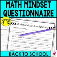 math mindset questionnaire