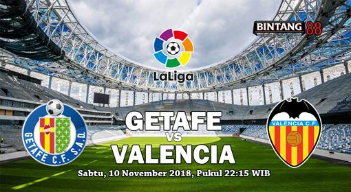 Prediksi Skor Getafe vs Valencia 10 November 2018